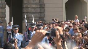 Cambio del guardia, Praga almacen de metraje de vídeo