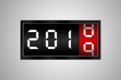 Cambio del número 2018 para numerar 2019 imagen de archivo