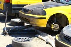 Cambio del neumático Imagen de archivo libre de regalías