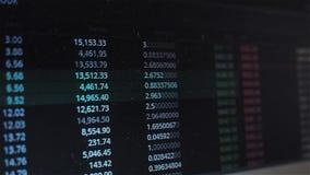 Cambio del precio, de la volatilidad del mercado del cryptocurrency o de la acci?n Comercio en la bolsa de acci?n almacen de metraje de vídeo
