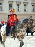 Cambio del protector del comandante del regimiento de Kravat Fotografía de archivo