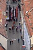 Cambio del regimiento honorario del pañuelo del guardia en ocasión del ` del día del pañuelo del mundo del `, Zagreb Fotografía de archivo