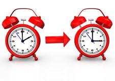 Cambio del tiempo Imagen de archivo libre de regalías