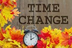 Cambio del tiempo de caída fotografía de archivo libre de regalías