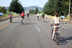 Cambio di gestione Portland dei Bicyclists immagini stock libere da diritti