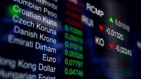 Cambio di riserva Priorità bassa di affari V1 stock footage