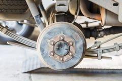 Cambio di ruota dell'automobile Immagini Stock