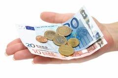 Cambio euro Imagen de archivo libre de regalías