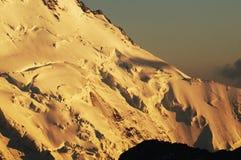 Cambio global del clima: Los glaciares en Suiza están derritiendo rap Imagen de archivo