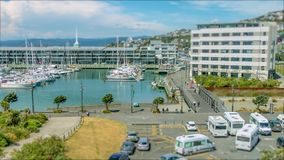 Cambio inclinable Wellington Marina Time Lapse almacen de metraje de vídeo