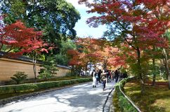 Cambio Japón del color de las hojas de Kinkakuji Fotos de archivo