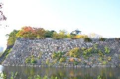 Cambio Japón del color del otoño en el castillo de Osaka Fotografía de archivo libre de regalías