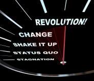 Cambio - razas del velocímetro a la revolución Imágenes de archivo libres de regalías