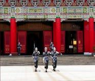 Cambio taiwanés de los soldados del guardia imágenes de archivo libres de regalías