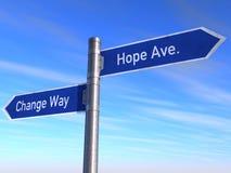 Cambio y esperanza Imagen de archivo libre de regalías