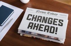 Cambios a continuación Fotografía de archivo libre de regalías