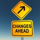 Cambios a continuación Imagen de archivo libre de regalías
