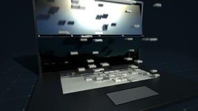 Cambios del teclado que hacen la tienda de ultramarinos, supermercado concepto en línea, offile del purchuse ilustración del vector