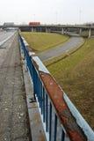 Cambista Desolated do tráfego nunca a ser terminado Foto de Stock Royalty Free