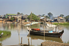 Cambodia. Kompong Chhang Fishing Village located  on the Tonle Sap River north of Phnom Penh, Cambodia Stock Photo