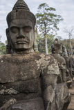 Cambodia, ancient statue Stock Photography