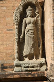 Cambodia, ancient statue Royalty Free Stock Photo