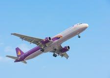 Cambodia Angkor Air plane lands Royalty Free Stock Image