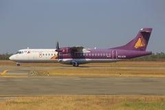 Cambodia Angkor Air. Seam Reap/Kambodia February 9, 2015: ATR from Cambodia Angkor Air at Seam Reap Airport Stock Photo