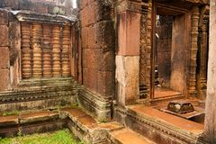 Cambodia - Angkor - Banteay Srei Royalty Free Stock Photos
