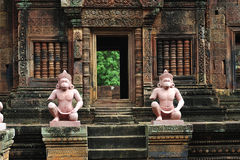 Cambodia Angkor Banteay Srey. In Cambodia, in Angkor the 10th century temple of Banteay Srey was dedicated to the god Siva. The temple is known as �the jewel Royalty Free Stock Photography