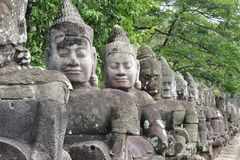 Cambodia;Angkor; Bayon Temple Royalty Free Stock Photo