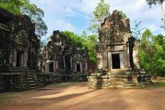Cambodia Angkor Chau diz o templo de Tevoda foto de stock