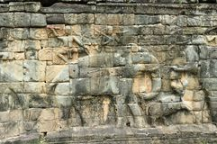 Cambodia; Angkor; elephants terrace Stock Photo