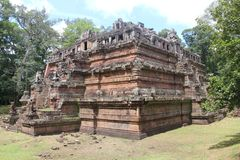 cambodia Angkor Thom City Tempio di Phimeanakas Provincia di Siem Reap Città di Siem Reap Fotografia Stock