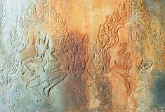 Cambodia Angkor Wat: Bas reliefs Stock Photography