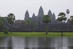Cambodia Angkor Wat monsoon season Royalty Free Stock Photo
