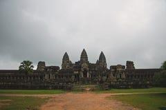 Cambodia Angkor Wat monsoon season Royalty Free Stock Photos