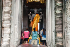 Cambodia Angkor Wat time to pray Stock Photography