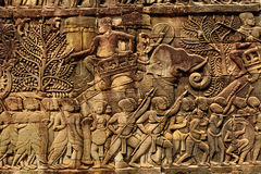 Free Cambodia Architecture. Bayon Khmer Temple Bas-relief Carving Stock Photography - 68741602