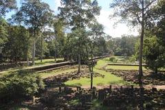 cambodia Baphuon tempel Siem Reap landskap Siem Reap stad Royaltyfri Bild