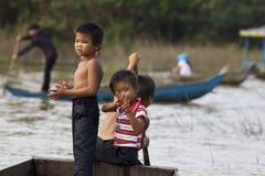 cambodia barn Royaltyfria Bilder