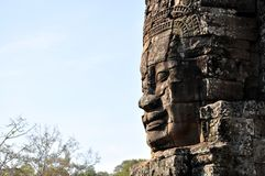Cambodia - Bayon temple. Angkor Wat, Siem Reap area (Cambodia) - Bayon temple, well-known and richly decorated temple Royalty Free Stock Photography