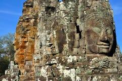 Cambodia - Bayon temple. Angkor Wat, Siem Reap area (Cambodia) - Bayon temple, well-known and richly decorated temple Royalty Free Stock Photos