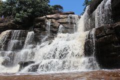 cambodia Cascata Poporkvil Montagna Bokor Città di Kampot Provincia di Kampot Fotografia Stock Libera da Diritti