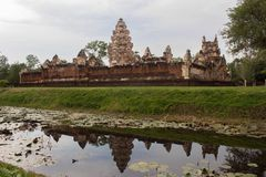 Cambodia castle. At border of Thailand and Cambodia name Sadok Kok Tom Stock Photo