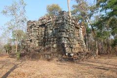cambodia Città di Koh Ker Prasat Linga Provincia di Preah Vihear Città di Siem Reap Immagine Stock Libera da Diritti