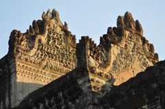 Cambodia - Close-up view of Angkor Wat temple Royalty Free Stock Photo