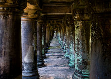 Cambodia columns Royalty Free Stock Image