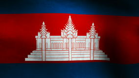 Cambodia country flag stock video
