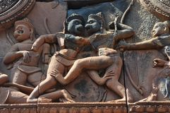 Cambodia - Detail of Benteay Srei, (the pink temple) Stock Images